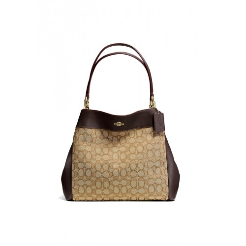 กระเป๋า COACH F57612 LEXY SHOULDER BAG IN OUTLINE SIGNATURE (IMC7C)