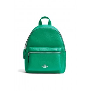 """กระเป๋า COACH F38263 MINI CHARLIE BACKPACK IN PEBBLE LEATHER (SVLE)   """