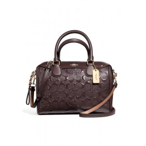 กระเป๋า COACH F11920 MINI BENNETT SATCHEL IN SIGNATURE DEBOSSED PATENT LEATHER (IML7C)