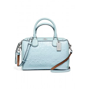 กระเป๋า COACH F11920 MINI BENNETT SATCHEL IN SIGNATURE DEBOSSED PATENT LEATHER (SVAQ)