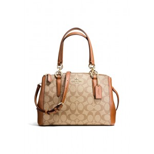 กระเป๋า COACH F58290 MINI CHRISTIE CARRYALL IN SIGNATURE COATED CANVAS (IME74)