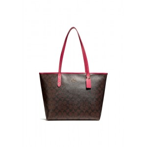 กระเป๋า COACH F58292 CITY ZIP TOTE IN SIGNATURE COATED CANVAS (IML72)