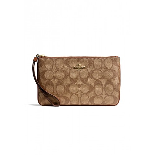 กระเป๋า COACH F58695 LARGE WRISTLET IN SIGNATURE  (IME74)