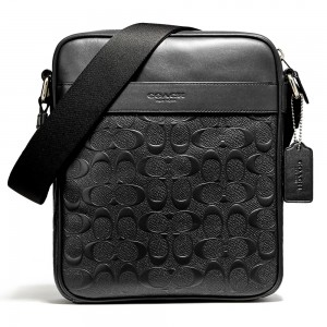 กระเป๋า COACH F11741 CHARLES FLIGHT BAG IN SIGNATURE CROSSGRAIN LEATHER  (NIBLK)
