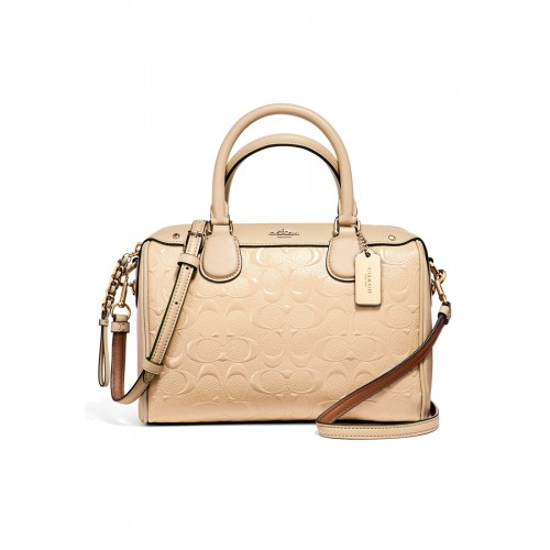 กระเป๋า COACH F11920 MINI BENNETT SATCHEL IN SIGNATURE DEBOSSED PATENT LEATHER (IMLH4)