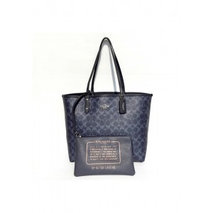 กระเป๋า COACH 25018E REVERSIBLE CITY TOTE IN SIGNATURE (SVM2Q)