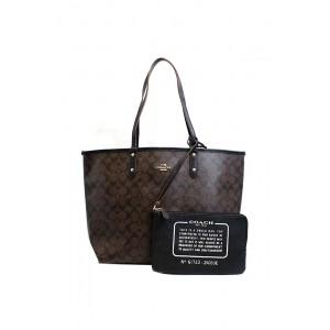 กระเป๋า COACH 25033E REVERSIBLE CITY TOTE IN SIGNATURE (IMAA8)