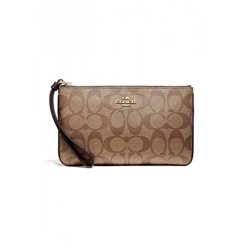 กระเป๋า COACH F58695 LARGE WRISTLET IN SIGNATURE  (IMMQ4)
