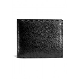 กระเป๋าสตางค์ COACH F59112    COMPACT ID WALLET IN CROSSGRAIN LEATHER (BLK)