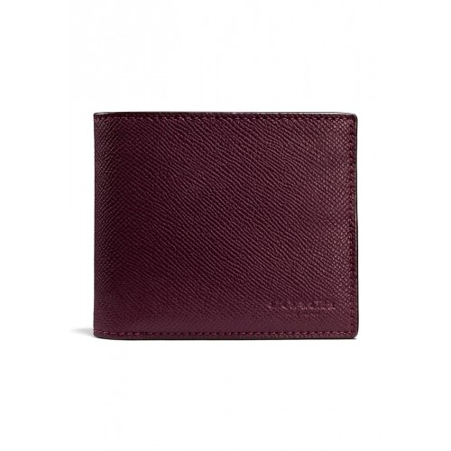 กระเป๋าสตางค์ COACH F59112    COMPACT ID WALLET IN CROSSGRAIN LEATHER (OXB)