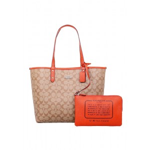 กระเป๋า COACH F36658 REVERSIBLE CITY TOTE IN SIGNATURE (SVN3Z)