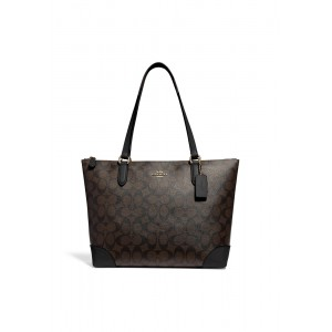 กระเป๋า COACH F29208 ZIP TOP TOTE IN SIGNATURE CANVAS (IMAA8)