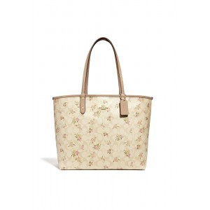 กระเป๋า COACH F31776 REVERSIBLE CITY ZIP TOTE IN SIGNATURE CANVAS WITH DAISY BUNDLE PRINT (IMABT)