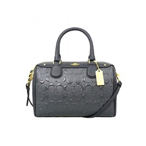 กระเป๋า COACH F11920 MINI BENNETT SATCHEL IN SIGNATURE DEBOSSED PATENT LEATHER (IMMID)