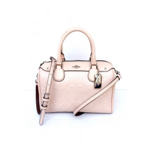 กระเป๋า COACH F11920 MINI BENNETT SATCHEL IN SIGNATURE DEBOSSED PATENT LEATHER (SVLP)