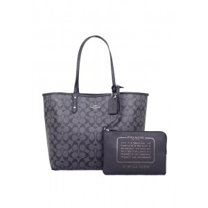 กระเป๋า COACH F25849 REVERSIBLE CITY TOTE IN SIGNATURE AND METALLIC CANVAS (SVN45)