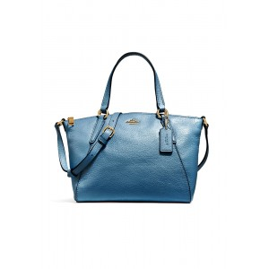 กระเป๋า COACH F27596 MINI KELSEY SATCHEL IN METALLIC PEBBLE LEATHER (IMN2E)