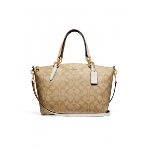 กระเป๋า COACH F28989 SMALL KELSEY SATCHEL IN SIGNATURE CANVAS (IMDQC)