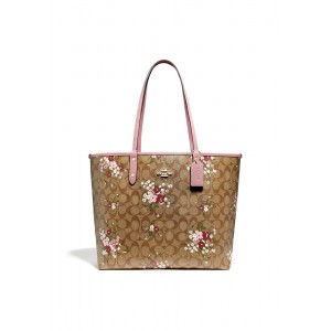 กระเป๋า COACH F29547 REVERSIBLE CITY ZIP TOTE IN SIGNATURE CANVAS WITH FLORAL BUNDLE PRINT (IMLGQ)