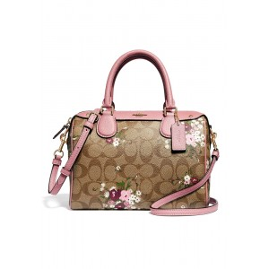 กระเป๋า COACH F29631 MINI BENNETT SATCHEL IN SIGNATURE CANVAS WITH FLORAL BUNDLE PRINT (IMLGQ)