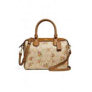 กระเป๋า COACH F31777 MINI BENNETT SATCHEL IN SIGNATURE CANVAS WITH DAISY BUNDLE PRINT (IMABT)