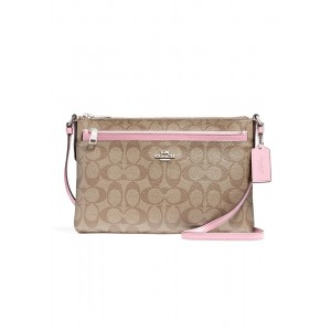 กระเป๋า  COACH F58316 EAST/WEST CROSSBODY WITH POP UP POUCH IN SIGNATURE (SVN3X)