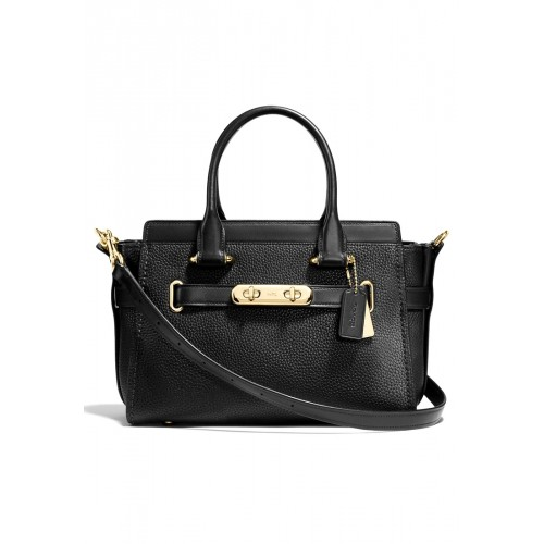 กระเป๋า COACH 87295 COACH SWAGGER 27 IN PEBBLED LEATHER SACTCHEL (LIBLK)