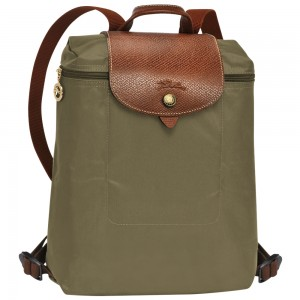 กระเป๋า Longchamp Le Pliage Backpack - Kaki