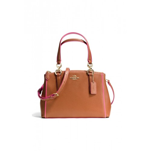กระเป๋า COACH  F37762 MINI CHRISTIE CARRYALL IN EDGEPAINT CROSSGRAIN LEATHER  (IMDXF)