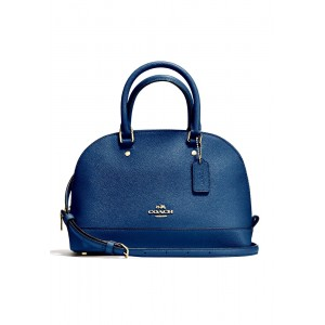 """กระเป๋า COACH F57555 MINI SIERRA SATCHEL IN CROSSGRAIN LEATHER (IMLHE)  """