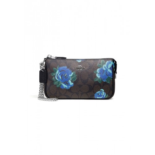 COACH F37567 LARGE WRISTLET 19 IN SIGNATURE CANVAS WITH JUMBO FLORAL PRINT  (SVN2R)