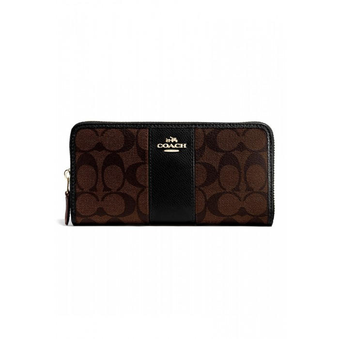 finest selection 51d12 d6b0a กระเป๋า COACH F54630 ACCORDION ZIP WALLET IN SIGNATURE CANVAS WITH LEATHER  (IMAA8)