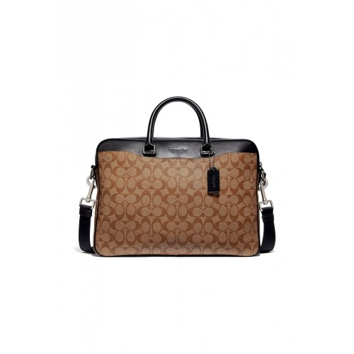 กระเป๋า COACH F72978 BECKETT SLIM BRIEF IN SIGNATURE CANVAS (QBTN2)