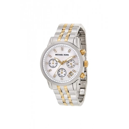 นาฬิกา Michael MK5057 Women's Two Tone Chronograph Watch