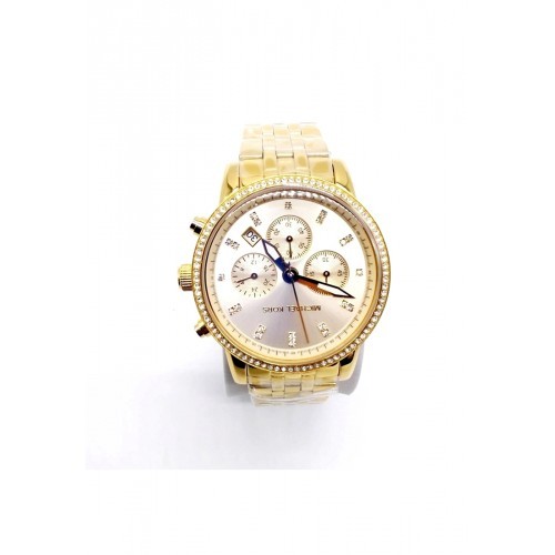 นาฬิกา Michael MK6342 Gold Tone Dial Chronograph Ladies Watch