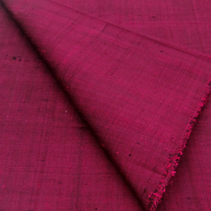 100% Thai Silk Fabric Handwoven with 6-ply Authentic Silk (Purple)