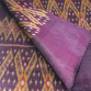 100% Thai Silk Fabric Mudmee Handwoven with 6-ply Authentic Silk (Deep Purple Base)