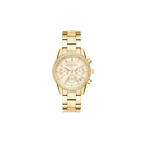 นาฬิกา Michael MK6597 Women's Ritz Chronograph Gold-Tone Stainless Steel Watch