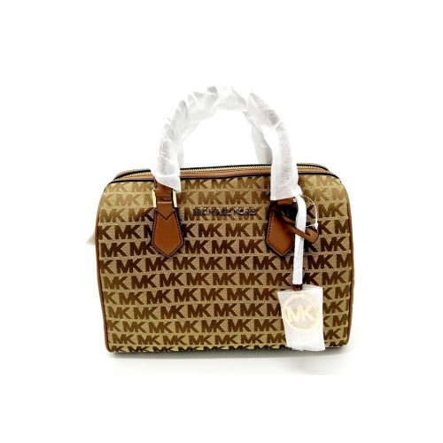 กระเป๋า Michael Kors 35F9GBFU3J Monogram Blended Fabrics 2WAY Plain Elegant Style Handbags (LUG)